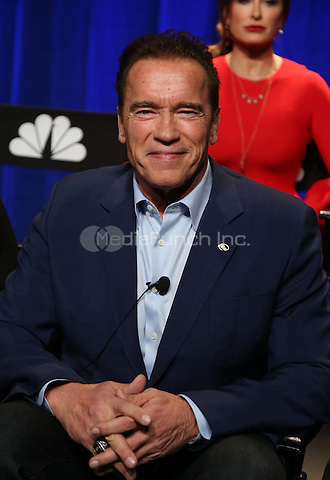 "Universal City, CA - DECEMBER 09: Arnold Schwarzenegger, At Q&A For NBC's "" The New Celebrity Apprentice"" At NBC Universal Lot, California on December 09, 2016. Credit: Faye Sadou/MediaPunch"