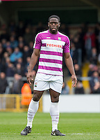 John Akinde of Barnet during the Sky Bet League 2 match between Wycombe Wanderers and Barnet at Adams Park, High Wycombe, England on 16 April 2016. Photo by Andy Rowland.