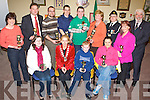 PARADE AWARDS: Pictured at the presentation of awards for their contribution to this years St. Patrick's Day parade in the UDC Offices, Tralee on Monday evening were l-r: Emer Jones (Grand Marshall), Miriam McGillicuddy (Lord Mayor), Darragh McMahon (mascot) and Joanne Barry (Instep Dance School). Standing l-r: Gretta Quirke (Heaven Sent Childcare), Ivan Blennerhassett (Chernobyl Children's project), Denis Reidy (Tralee Educate Together), John O'Donnell (Tralee Fire service), Fergal Keane (I.O. Collective arts group), Ann Laide (Caballs Book Shop), Tom Griffin (Civil Defence), Triona Breen (Rinceoiri? na Ri?ochta) and Cllr Johnny Wall.   Copyright Kerry's Eye 2008