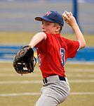 WATERBURY, CT-0712217JS02--Wolcott's Ty Devitta (3) delivers a pitch during their Roberto Clemente Tournament game against the BC Cyclones Saturday at Municipal Stadium in Waterbury. <br /> Jim Shannon Republican-American