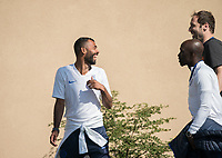 Ashley Cole & Petr Cech during the UEFA Youth League match between Chelsea U19 and Valencia Juvenil A at the Chelsea Training Ground, Cobham, England on 17 September 2019. Photo by Andy Rowland.