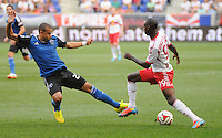HARRISON, NJ - Saturday July 19, 2014: The New York Red Bulls take on the San Jose Earthquakes at Red Bull Arena in regular season MLS play.