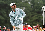 CROMWELL, CT. 20 June 2019-062019 - PGA Tour player Paul Casey watches his tee shot on the first hole as he starts his round, during the first round of the Travelers Championship at TPC River Highlands in Cromwell on Thursday. Bill Shettle Republican-American