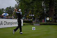 Nick Doughery tees off on the opening hole during the final round of the BMW PGA Championship at Wentworth Club, Surrey, England 27th May 2007 (Photo by Eoin Clarke/NEWSFILE)