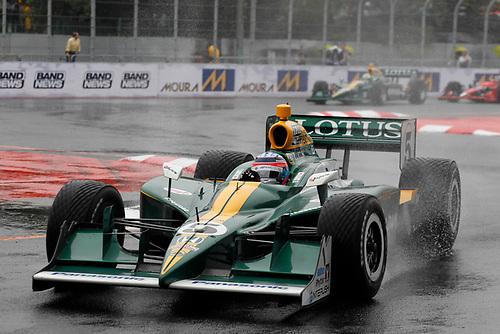 30 April - 1 May, 2011, Sao Paulo, Sao Paulo Brazil<br /> Takuma Sato leads EJ Viso and Marco Andretti.<br /> © 2011 Phillip Abbott<br /> LAT Photo USA
