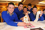 The County Final of the Kerry County Enterprise Boards&rsquo; Annual Student Enterprise Awards was held on the 26th March 2009 in the Meadowlands Hotel in Tralee. Outstanding participation levels saw over 38 mini-companies being set up by local Second level schools involved in the competition. The competition promotes the development of innovation, idea development and business structure, sourcing of finance, marketing/sales and the presentation of a formal business plan. The students progressed through the establishment of a mini company which trades over a period of a number of months. An exciting and rewarding programme, students get to experience the realities of entrepreneurship from developing a business idea to producing a product, researching the market, promoting the business and managing the books.<br /> Pictured on their stand at the exhibition were from left, Miltown Presentation School pupils, Daragh o'Neill, Danny Murphy, Brian Cronin, Martin Murphy and gavin O'Brien with their project on 'Toilet Roll Advertising'.<br /> Picture by Don MacMonagle