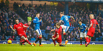 4.3.2018: Rangers v Falkirk Scottish Cup QF<br /> Jason Cummings almost adds a fourth as Rangers hammer the Falkirk defence