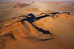 Namibia, Namib Desert, Skeleton Coast, aerial view of Inselberge at eastern edge of Namib Desert
