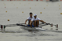 Poznan, POLAND.  2006, FISA, Rowing, World Cup,  ITA LM2X . bow  Marcello MIANI and  Elia LUINI, move  away from  the  start, on the Malta  Lake. Regatta Course, Poznan, Thurs. 15.05.2006. © Peter Spurrier   ..[Mandatory Credit Peter Spurrier/ Intersport Images] Rowing Course:Malta Rowing Course, Poznan, POLAND