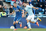 Getafe's Pablo Sarabia (l) and Celta de Vigo's Jonny Castro during La Liga match. February 27,2016. (ALTERPHOTOS/Acero)