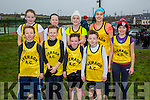Member of Iveragh Athletic Club who took Gold in the County Championship Relays in Cahersiveen on Sunday, were front l-r; (U11 Boys) Emmet Daly, Adam Quigley, Donagh O'Sullivan, Marcus Draper, back l-r; (U13 Girls) Brianna O'Sullivan, Meabh Daly, Leanne O'Sullivan, Rachel Dwyer & Aoife Dwyer.
