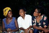 Makande, Gabon. Vicki, Clementine and Yvonne, Gabonese women.