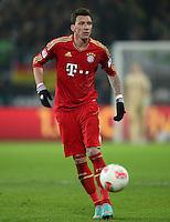FUSSBALL   1. BUNDESLIGA   SAISON 2012/2013    22. SPIELTAG VfL Wolfsburg - FC Bayern Muenchen                       15.02.2013 Mario Mandzukic (FC Bayern Muenchen)  Einzelaktion am Ball