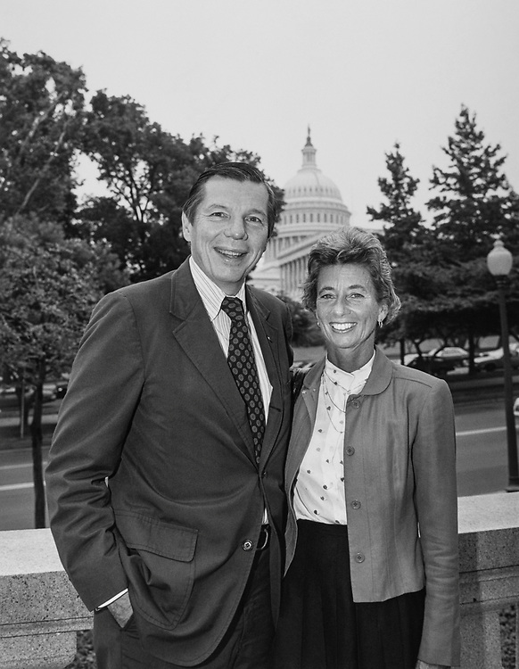 Portrait of Rep. Andy Ireland with wife Nancy in 1991. (Photo by Maureen Keating/CQ Roll Call)