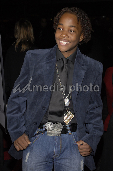 "11 November 2007 - New York, New York - Leon Thomas III. The New York premiere of Warne Bros. Pictures' ""August Rush"" held at  the Ziegfeld Theater.  Photo Credit: Bill Lyons/AdMedia *** Local Caption ***"
