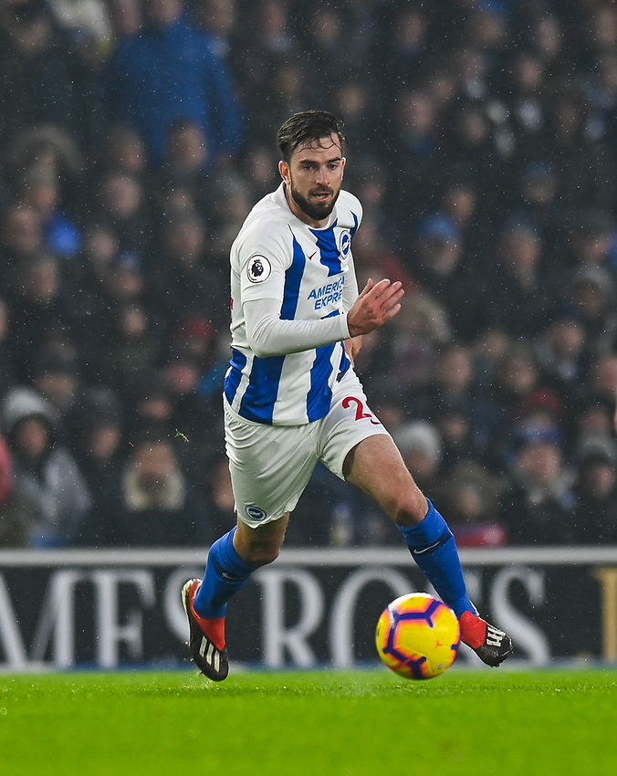 Brighton & Hove Albion's Davy Propper <br /> <br /> Photographer David Horton/CameraSport<br /> <br /> The Premier League - Brighton and Hove Albion v Leicester City - Saturday 24th November 2018 - The Amex Stadium - Brighton<br /> <br /> World Copyright © 2018 CameraSport. All rights reserved. 43 Linden Ave. Countesthorpe. Leicester. England. LE8 5PG - Tel: +44 (0) 116 277 4147 - admin@camerasport.com - www.camerasport.com