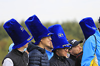 Fans during Friday's Fourball Matches at the 2018 Ryder Cup, Le Golf National, Iles-de-France, France. 28/09/2018.<br /> Picture Eoin Clarke / Golffile.ie<br /> <br /> All photo usage must carry mandatory copyright credit (© Golffile | Eoin Clarke)