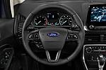 Car pictures of steering wheel view of a 2019 Ford EcoSport SES 5 Door SUV