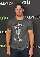 www.acepixs.com<br /> <br /> March 18 2017, LA<br /> <br /> Stephen Amell arriving at the Paley Center For Media's 34th Annual PaleyFest Los Angeles - The CW's Heroes and Aliens - on March 18, 2017 in Hollywood, California<br /> <br /> By Line: Peter West/ACE Pictures<br /> <br /> <br /> ACE Pictures Inc<br /> Tel: 6467670430<br /> Email: info@acepixs.com<br /> www.acepixs.com