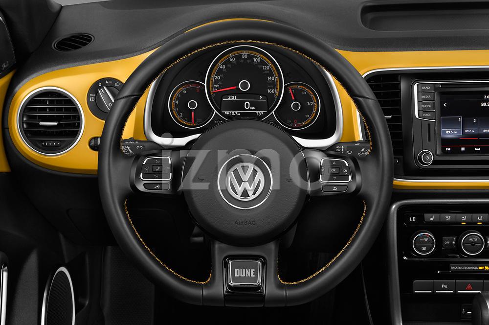Car pictures of steering wheel view of a 2017 Volkswagen Beetle Dune 3 Door Hatchback Steering Wheel