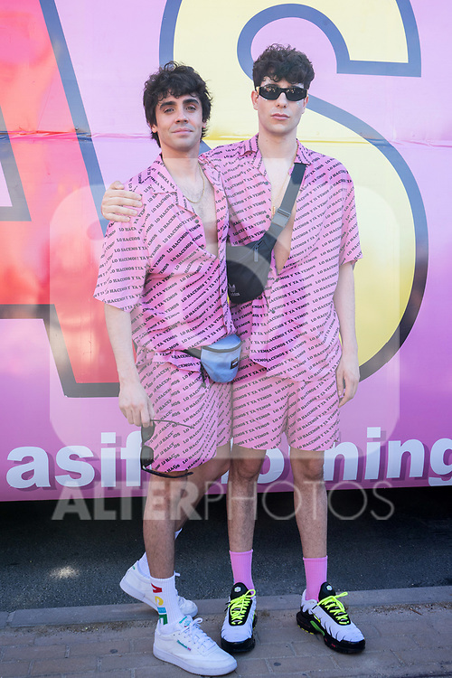 Javier Ambrossi and Javier Calvo (r), 'Los Javis',  during LGTB Pride March in Madrid. July 06, 2019. (ALTERPHOTOS/Francis González)