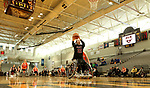 MARSHALL, MN - MARCH 17:  Katherine Lang #32 from Alabama lays the ball up against the University of Texas Arlington during their championship game at the 2018 National Intercollegiate Wheelchair Basketball Tournament at Southwest Minnesota State University in Marshall, MN. (Photo by Dave Eggen/Inertia)