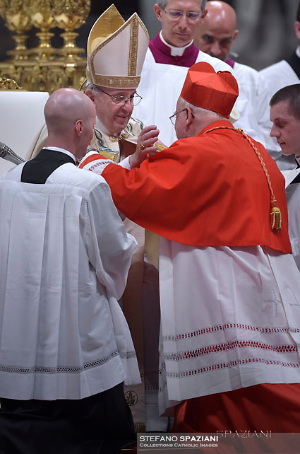 Cardinal Anders Arborelius from Sweden;Pope Francis leads a consistory for the creation of five new cardinals  at St Peter's basilica in Vatican.  from countries  : El Salvador, Laos, Mali,Sweden and Spain.<br /> Cardinal Gregorio Rosa Chavez from Salvador;Cardinal Louis-Marie Ling Mangkhanekhoun from Laos;Cardinal Anders Arborelius from Sweden;Cardinal Jean Zerbo from Mali;Cardinal Juan José Omella of Spainon June 28, 2017