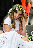 TRONDHEIM, NORWAY - JUNE 23:  Princess Ingrid Alexandra of Norway attends a Garden Party at the Royal Residence, Stiftsgarden,  on a visit to Trondheim, during the King and Queen of Norway's Silver Jubilee Tour, on June 23, 2016 in Trondheim, Norway