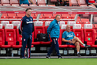 27th June 2020; Bet365 Stadium, Stoke, Staffordshire, England; English Championship Football, Stoke City versus Middlesbrough; Middlesborough Manager Neil Warnock watches the game from the team dugout