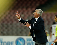 Carlo Ancelotti  during the  italian serie a soccer match,  SSC Napoli - Milan      at  the San  Paolo   stadium in Naples  Italy , August 25, 2018