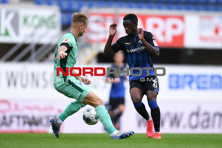 Stefan Posch (TSG 1899 #38) gegen Christopher Antwi-Adjei (SC Paderborn #22)<br /><br />Foto: Edith Geuppert/GES /Pool / Rauch / nordphoto <br /><br />DFL regulations prohibit any use of photographs as image sequences and/or quasi-video.<br /><br />Editorial use only!<br /><br />National and international news-agencies out.