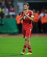 FUSSBALL   DFB POKAL   SAISON 2011/2012  1. Hauptrunde Eintracht Braunschweig - FC Bayern Muenchen   01.08.2011 Thomas MUELLER (Bayern)
