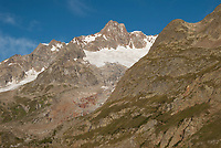 Mont Blanc from the Miage Glacier, September 2007
