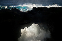 Sea arch in the Puna area. Hawaii Island