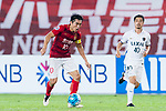 Guangzhou Midfielder Zheng Zhi (L) in action during the AFC Champions League 2017 Round of 16 match between Guangzhou Evergrande FC (CHN) vs Kashima Antlers (JPN) at the Tianhe Stadium on 23 May 2017 in Guangzhou, China. (Photo by Power Sport Images/Getty Images)
