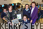 Teacher Annette Leen from Castleisland Presentation Secondary School  received the Prodigy Learning Centre of Excellence for 2014/2015 in Computer eduction, first School in Kerry. Pictured Annette Leen with Student Colette O'Shea, Ashling Teahan and Principal Katherina Broderick in the Computer class on Thursday