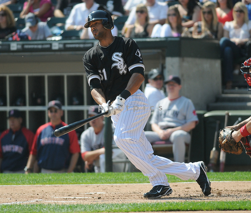 ALEX RIOS, of the Chicago White Sox, in action during the White Sox game against the Boston Red Sox on September 7, 2009 in Chicago, IL. The White Sox beat the Red Sox 5-1...
