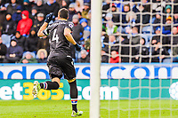 Crystal Palace's midfielder Luka Milivojevic (4) celebrates his sides 2nd goal during the EPL - Premier League match between Huddersfield Town and Crystal Palace at the John Smith's Stadium, Huddersfield, England on 17 March 2018. Photo by Stephen Buckley / PRiME Media Images.