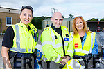Keeping everyone safe at the Ardfert Kids Cycle at the School on Sunday morning. L-r, Gda Irene Riordan, Gda James Ellard and Betty Stack (Principal).