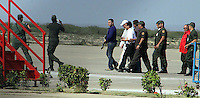 Pro-opposition TV station Globovision President Guillermo Zuloaga is arrested at Punto Fijo airport, 400 miles Westr from Caracas March 25, 2010. Police detained the head of Venezuela's main pro-opposition TV station for his criticism of President Hugo Chavez's government during Interamerican Press Society forum...Caribe Focus/Yunio Lugo