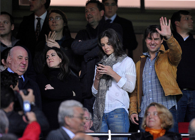 Mr and Mrs Tom Cruise at match