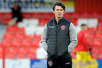 Fleetwood Town Manager Joey Barton during the The Leasing.com Trophy match between Accrington Stanley and Fleetwood Town at the Fraser Eagle Stadium, Accrington, England on 3 September 2019. Photo by Greig Bertram / PRiME Media Images.