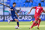 Adisak Kraisorn of Thailand (L) in action during the AFC Asian Cup UAE 2019 Group A match between Bahrain (BHR) and Thailand (THA) at Al Maktoum Stadium on 10 January 2019 in Dubai, United Arab Emirates. Photo by Marcio Rodrigo Machado / Power Sport Images