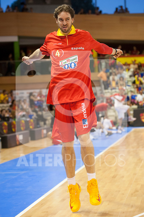 Spain's  Marc Gasol during Spain vs Tunez friendly match in Salamanca. July 13,2012.(ALTERPHOTOS/Ricky)