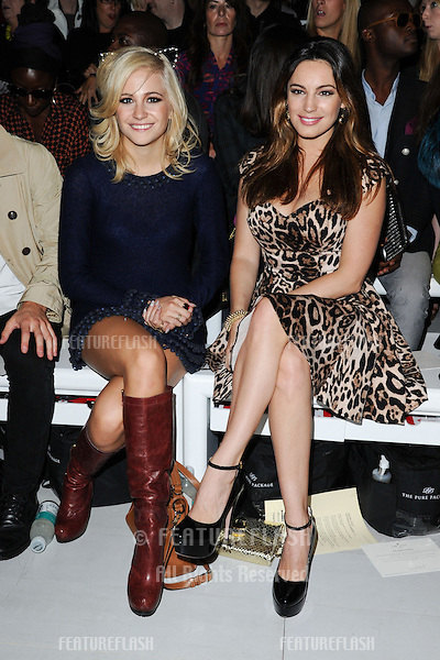 Pixie Lott and actress, Kelly Brook at the Mark Fast catwalk show as part of London Fashion Week SS13, Somerset House, London. 17/09/2012 Picture by: Steve Vas / Featureflash