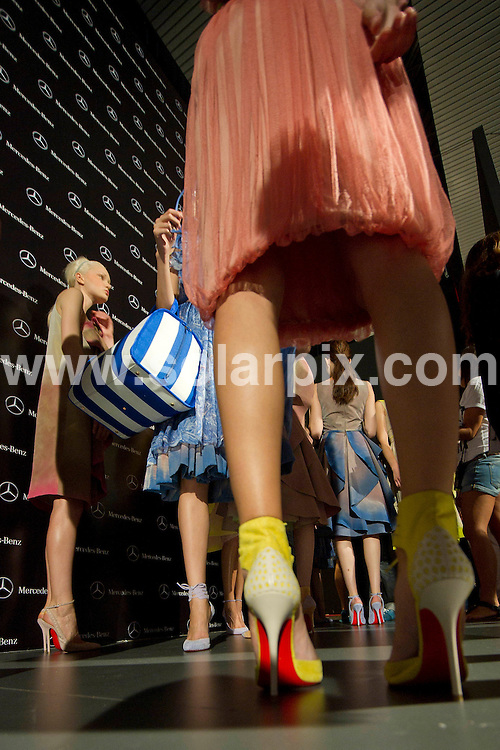 **ALL ROUND PICTURES FROM SOLARPIX.COM**                                             **WORLDWIDE SYNDICATION RIGHTS EXCEPT SPAIN - NO SYNDICATION IN SPAIN**                                                                                  Madrid. Spain. Cibeles Madrid Fashion Week.  .Designers Victorio and Lucchino catwalk.  Backstage pictures.                                                                          .This pic:    Victorio and Lucchino catwalk                                                                                          JOB REF:     13960   DMS  Drake       DATE:   16.09.11                                                         **MUST CREDIT SOLARPIX.COM OR DOUBLE FEE WILL BE CHARGED**                                                                      **MUST AGREE FEE BEFORE ONLINE USAGE**                               **CALL US ON: +34 952 811 768 or LOW RATE FROM UK 0844 617 7637**