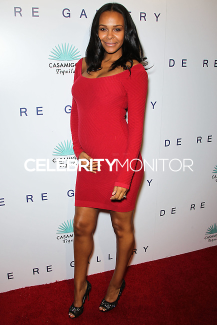 WEST HOLLYWOOD, CA, USA - OCTOBER 23: Samantha Mumba arrives at Brian Bowen Smith's First Solo Show 'Wildlife' held at the De Re Gallery on October 23, 2014 in West Hollywood, California, United States. (Photo by Celebrity Monitor)
