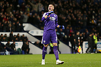West Bromwich Albion's Sam Johnstone celebrates after his side go 1-0 ahead.<br /> <br /> Photographer David Shipman/CameraSport<br /> <br /> The EFL Sky Bet Championship - West Bromwich Albion v Leeds United - Saturday 10th November 2018 - The Hawthorns - West Bromwich<br /> <br /> World Copyright &copy; 2018 CameraSport. All rights reserved. 43 Linden Ave. Countesthorpe. Leicester. England. LE8 5PG - Tel: +44 (0) 116 277 4147 - admin@camerasport.com - www.camerasport.com
