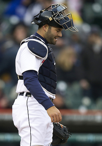 April 24, 2013:  Detroit Tigers catcher Alex Avila (13) during MLB game action between the Kansas City Royals and the Detroit Tigers at Comerica Park in Detroit, Michigan.  The Tigers defeated the Royals 7-5.