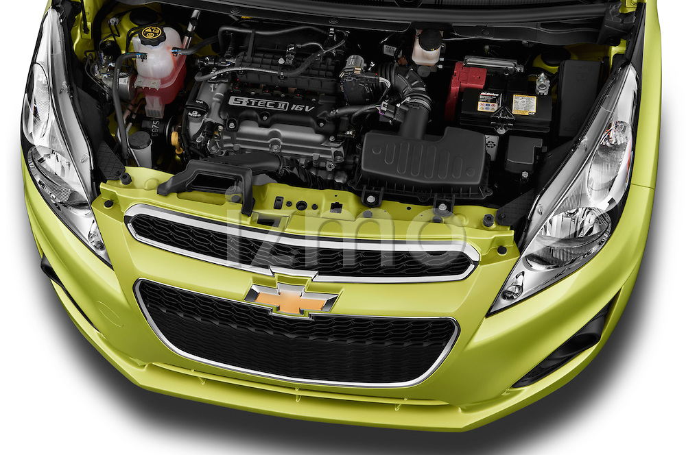 High angle engine detail of a  .2013 Chevrolet Spark LS